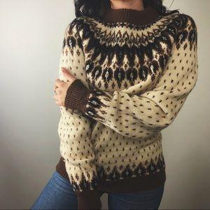 VINTAGE/ wool fair isle sweater